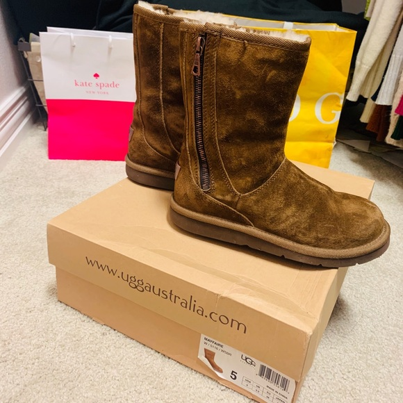 UGG Shoes - Rare UGG booties with medal zipper and medal logo